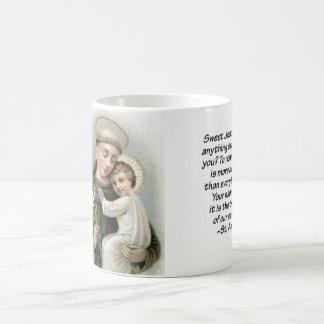 Caneca De Café St Anthony e bebê Jesus