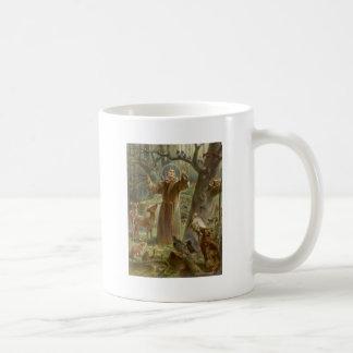 Caneca De Café St Francis de Assisi cercou por animais