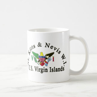 Caneca De Café St. Kitts e Nevis/E.U. Virgin Islands