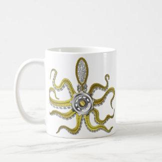 Caneca De Café Steampunk alinha o polvo Kraken