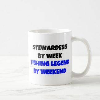 Caneca De Café Stewardess pela legenda da pesca da semana em o