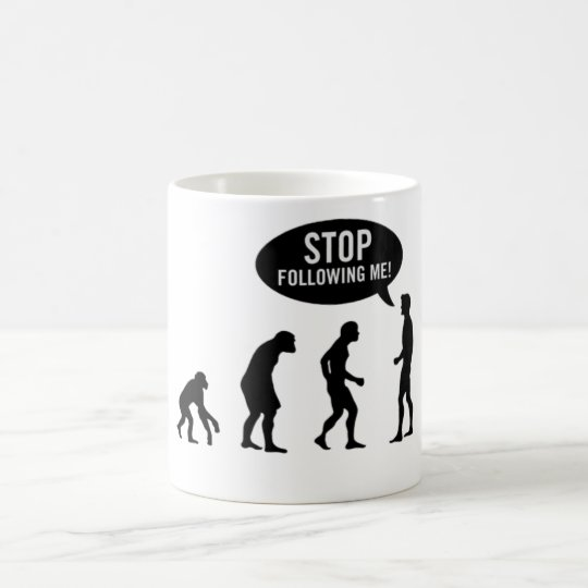 Caneca De Café Stop Following Me