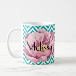 Caneca De Café Sua papoila cor-de-rosa conhecida