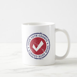 Caneca De Café suas contagens do voto