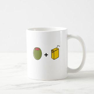 Caneca De Café Suco verde-oliva eu te amo