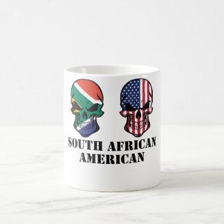 Caneca De Café Sul - crânios da bandeira do afro-americano