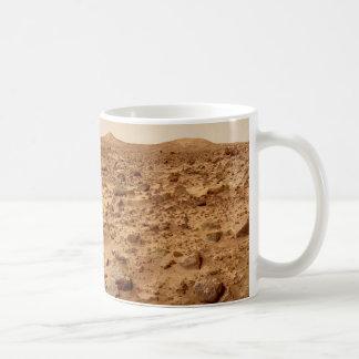 Caneca De Café Superfície rochosa do planeta Marte