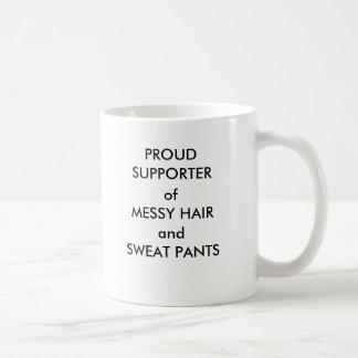 Caneca De Café Suporte orgulhoso de calças desarrumado do cabelo