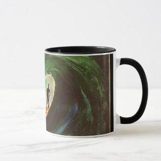 Caneca de café surfando de Ripcurl do oceano do