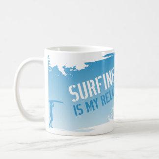 Caneca De Café Surfar é minha religião