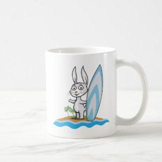 Caneca De Café Surfista do coelho