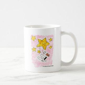 Caneca De Café Swingin do terrier de raposa do fio em uma estrela