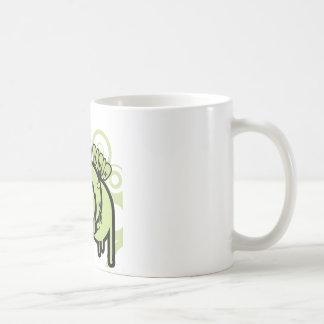 Caneca De Café SYR que goteja o logotipo verde