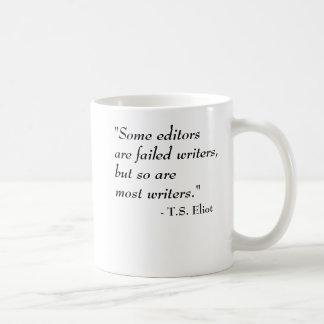 Caneca De Café T.S. Citações de Eliot - escritores