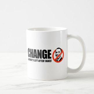 Caneca De Café T-shirt de Anti-Obama - a mudança é o que é