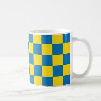 Caneca De Café Tabuleiro de damas projetado - cores suecos