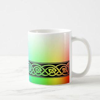 Caneca De Café Taça, nó celta, desenhos de arco-íris