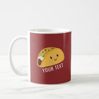 Caneca De Café Taco-ataque personalizado de Kawaii Taco bonito