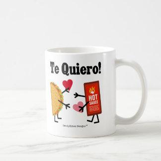 Caneca De Café Taco & molho picante - Te Quiero! (Eu te amo!)