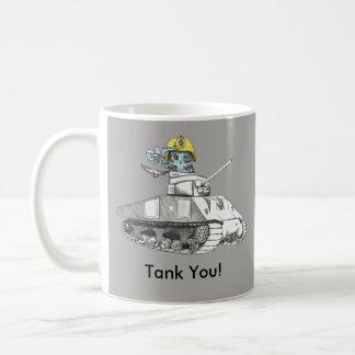 Caneca De Café Tanque você!  A coruja da batalha do tanque é