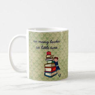 Caneca De Café tão muitos livros, tão pouca menina do tempo com