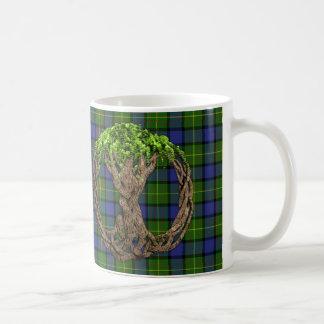 Caneca De Café Tartan de Muir do clã e árvore do céltico de vida