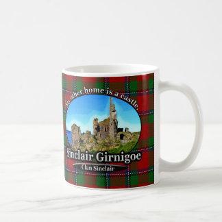 Caneca De Café Tartan de Sinclair Girnigoe do castelo de Sinclair