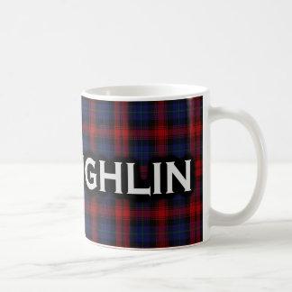 Caneca De Café Tartan escocês de McLaughlin MacLachlan do clã