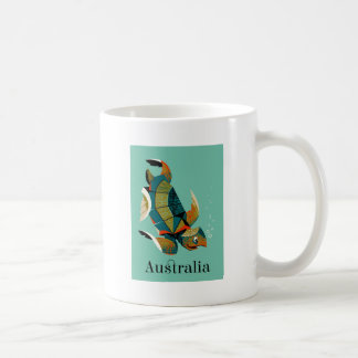 Caneca De Café Tartaruga de mar australiana animador