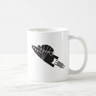 Caneca De Café tartaruga que monta um 🐢🚀 do foguete