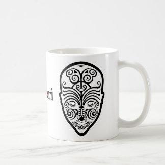 Caneca De Café Tatuagem maori da cara do OPUS