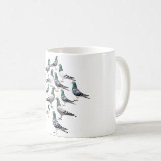 Caneca De Café Taza con collage de palomas mensajeras