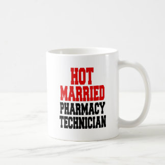 Caneca De Café Técnico casado quente da farmácia