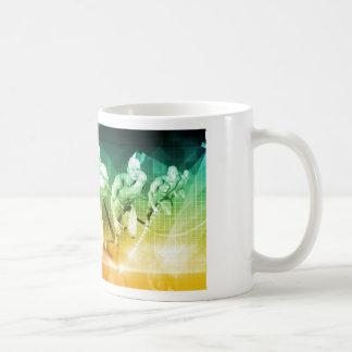 Caneca De Café Tecnologia avançada como ELE fundo do conceito