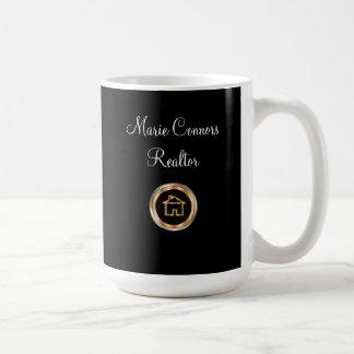 Caneca De Café Tema elegante do corretor de imóveis