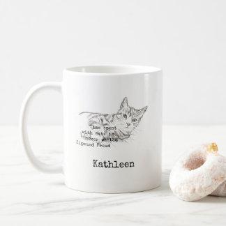 Caneca De Café Tempo passado com gatos…