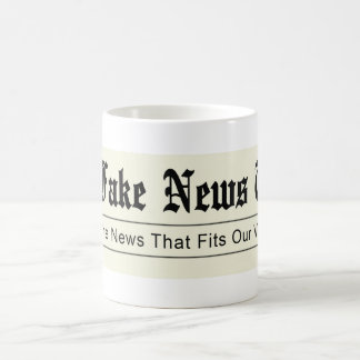 Caneca De Café Tempos falsificados da notícia