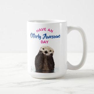 Caneca De Café Tenha uma foto bonito da lontra do dia