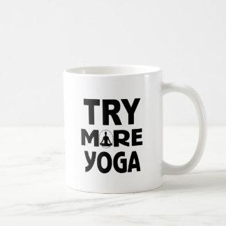 Caneca De Café Tente mais ioga