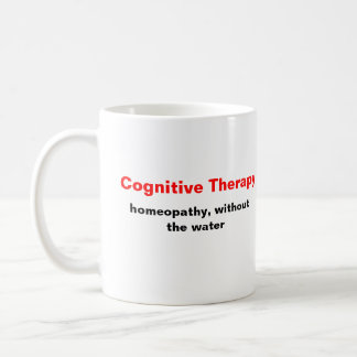 Caneca De Café Terapia cognitiva, homeopatia, sem a água