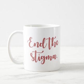 Caneca De Café Termine a caligrafia do estigma