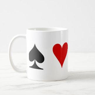 Caneca De Café Ternos do cartão de jogo