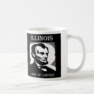 Caneca De Café Terra de Illinois de Lincoln