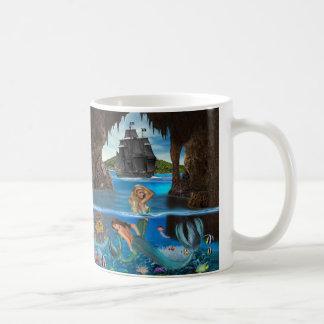 Caneca De Café Tesouro do recife de corais da sereia