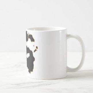 Caneca De Café Teste de Rorschach de um cartão da mancha da tinta