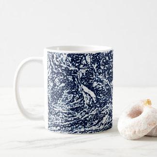 Caneca De Café Teste padrão abstrato azul escuro