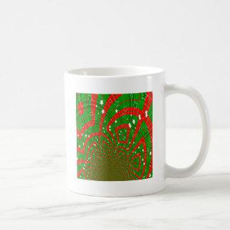 Caneca De Café teste padrão abstrato do Natal do fundo