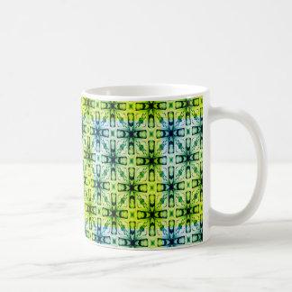 Caneca De Café Teste padrão abstrato verde