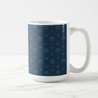 Caneca De Café Teste padrão azul do monstro do biscoito e do