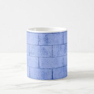 Caneca De Café Teste padrão azul do tijolo